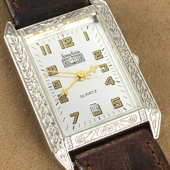 Neiman Marcus Accessories - Neiman Marcus Red River Silver Tone Western Watch